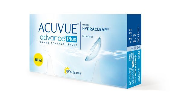 Kontaktní čočky ACUVUE advance Plus with Hydraclear