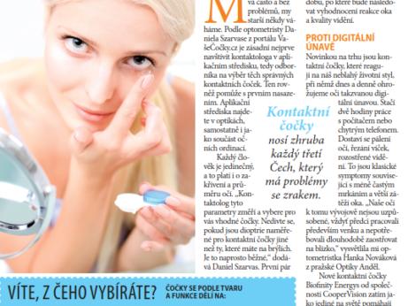 Článek BLESK o kontaktních čočkách Digitální únava