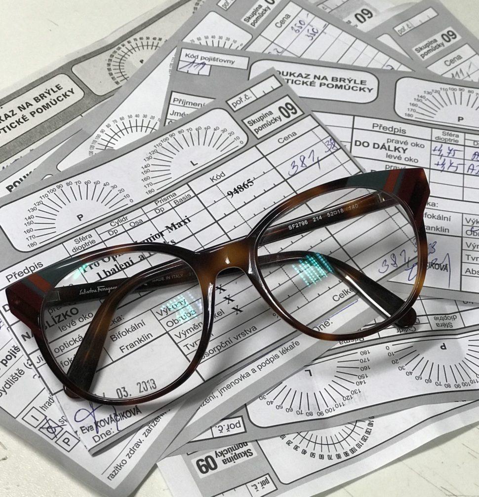 foto brýle vyšetření zraku Optika Anděl