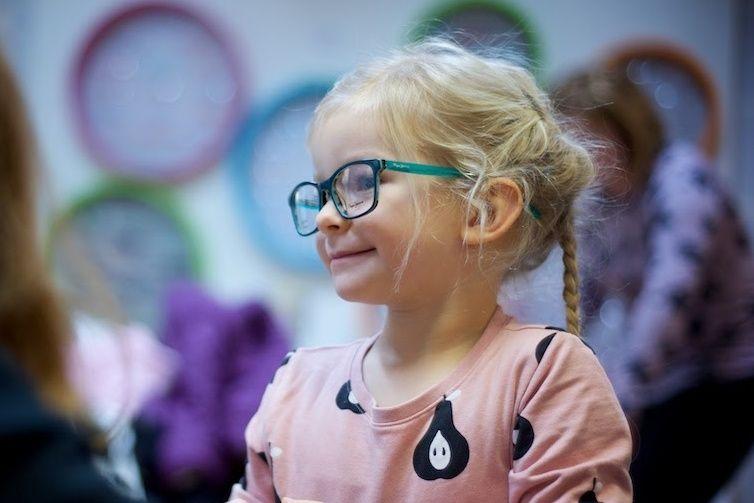 Dětské dioptrické brýle zelené