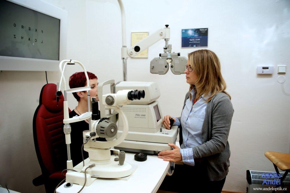 Měření zraku Optika Anděl Pavla Vedralová