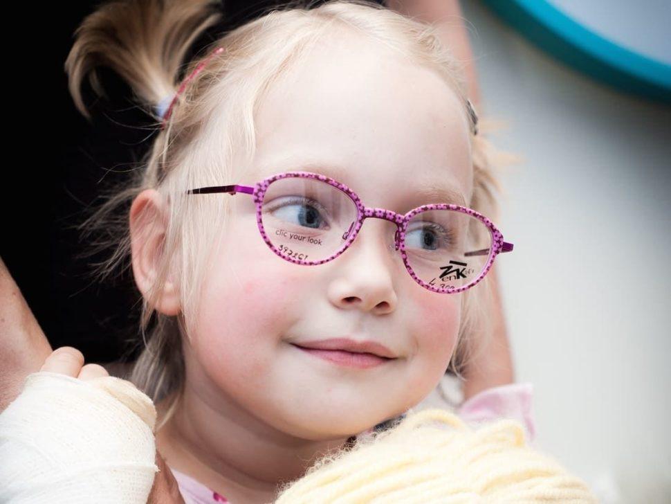 Dětské dioptrické brýle barevné růžové