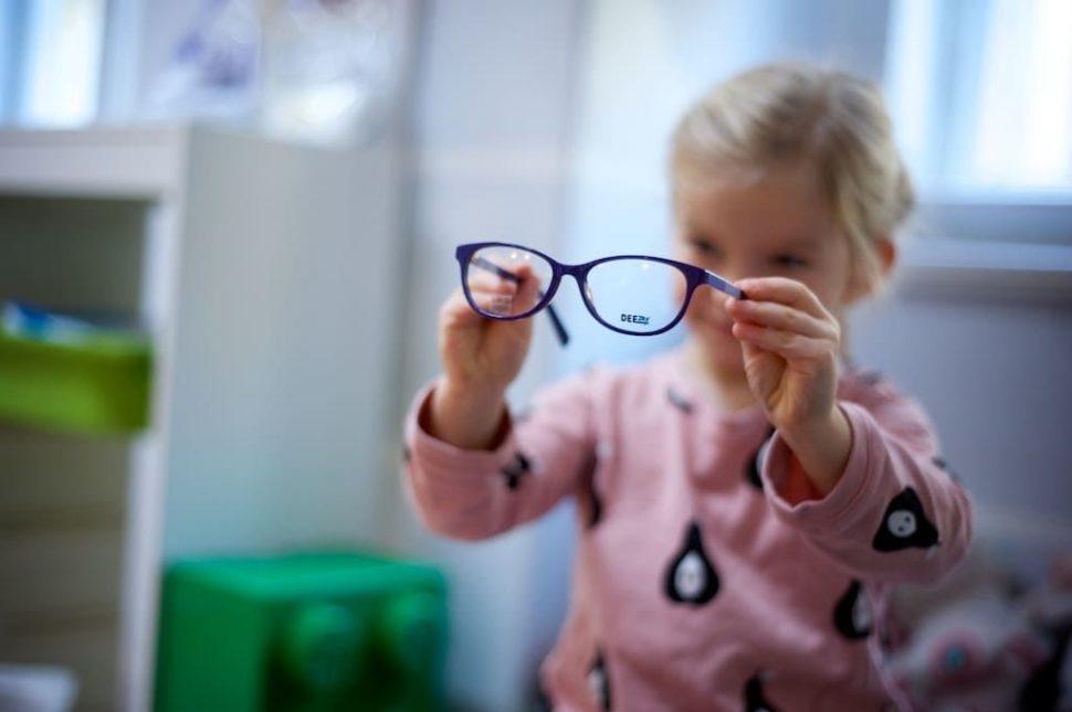 Dětské dioptrické brýle barevné