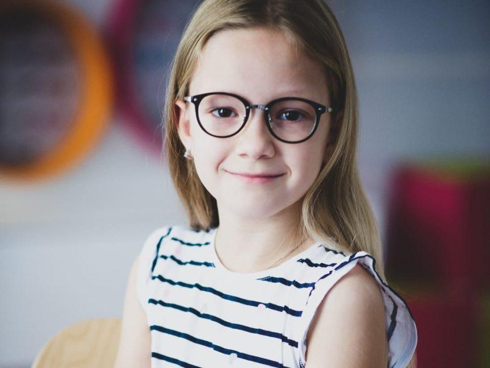Dětské černé dioptrické brýle