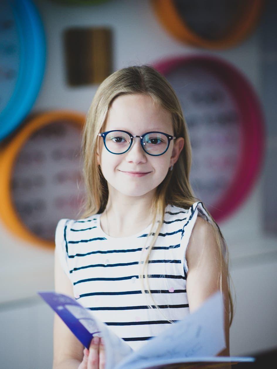 Dětské modré dioptrické brýle