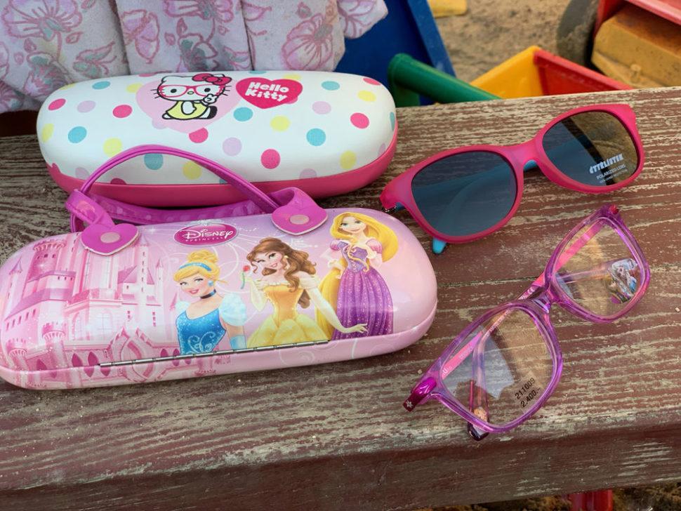 Dětské sluneční brýle dětské pouzdro nabrýle Hello Kitty Disney princezny