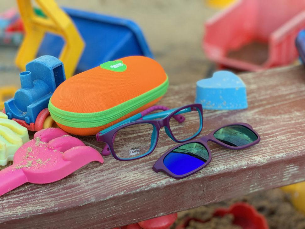 Dětské sluneční brýle barevné dětské pouzdro nabrýle