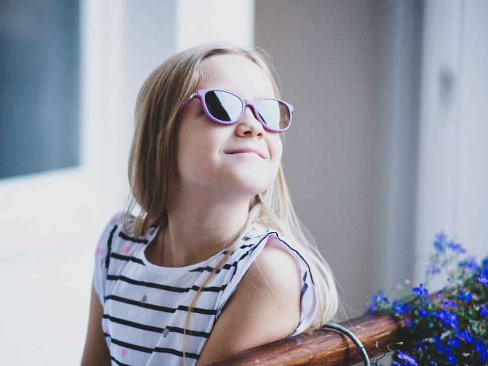 Dětské sluneční brýle dívčí fialové