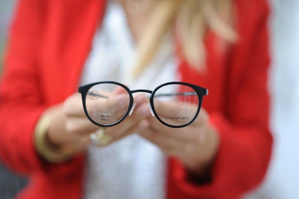 Dioptrické brýle černé TITANFLEX