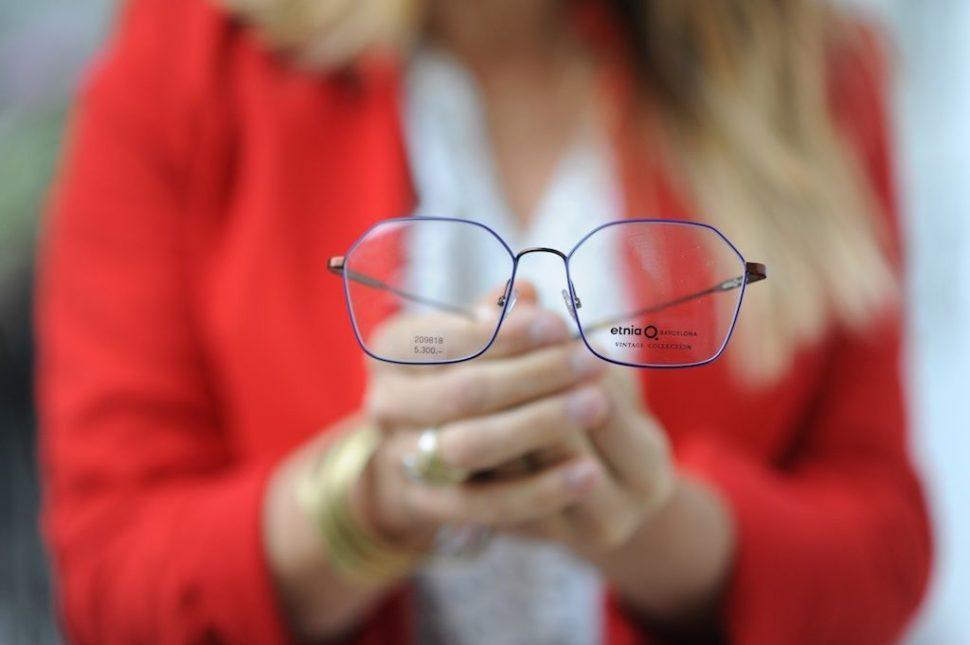 Dioptrické brýle modré tenké obroby
