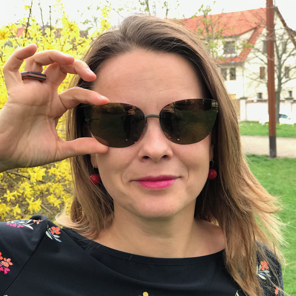 Sluneční klip nabrýle Pavla Vedralová