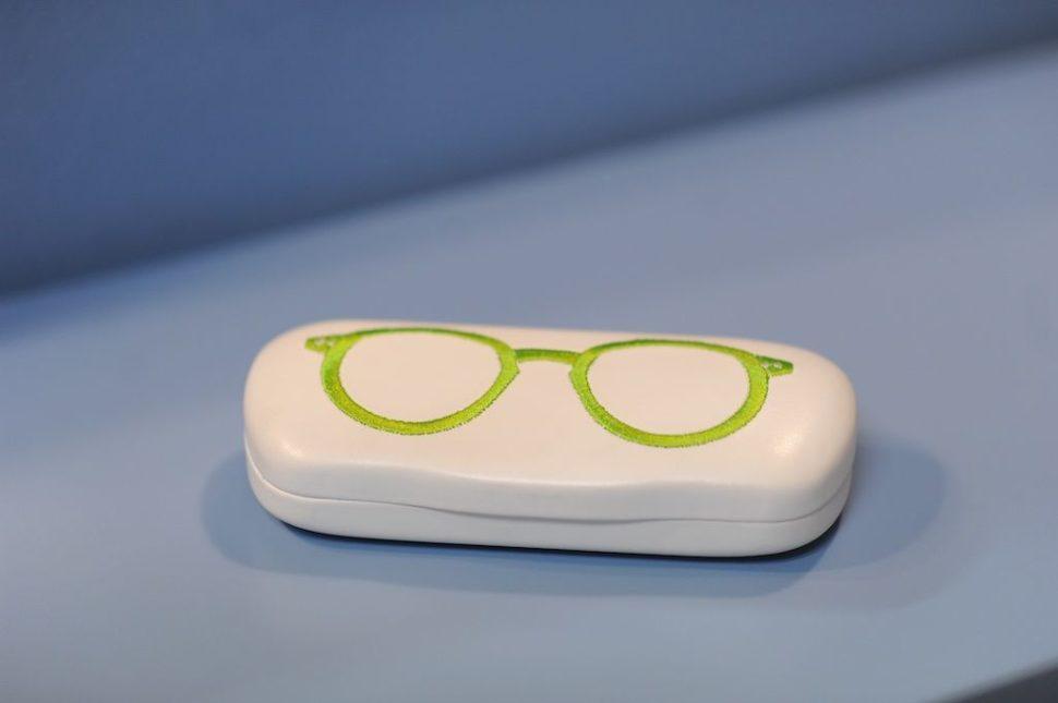 Pouzdro nabrýle aplikace brýle
