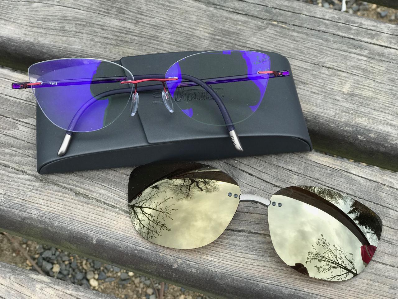 dioptrické brýle Silhouette průhledná barevná skla