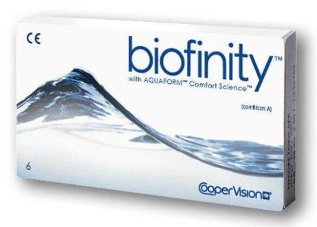 Kontaktní čočky biofinity with AQUAFORM od CooperVision