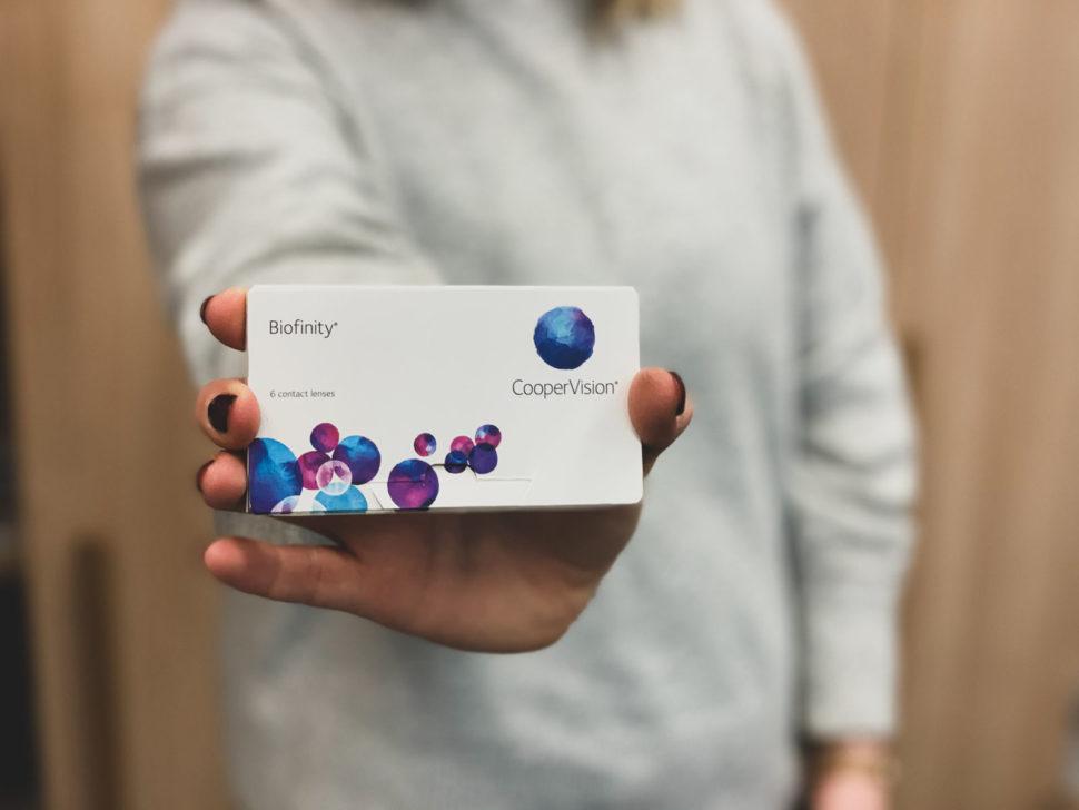 Balení kontaktních čoček Biofinity od Cooper Vision