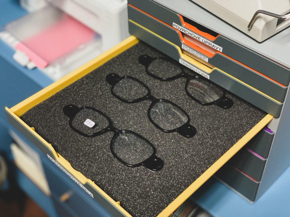 Dioptrická skla vyšetření zraku výběr brýlí