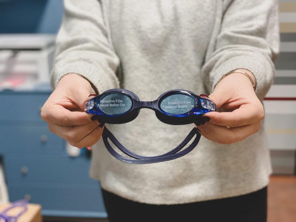 Sportovní plavecké dioptrické brýle modré