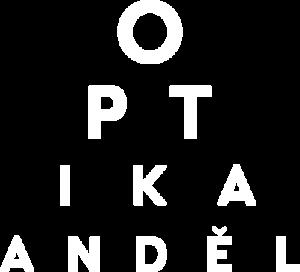 Logo Optika anděl bílé