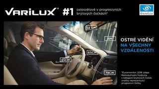 Dioptrická skla pro řidiče Varilux