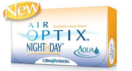 Balení kontaktních čoček Air Optix Nightday Aqua od Ciba Vision