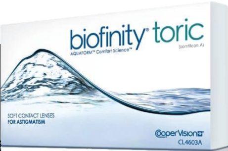 Balení kontaktních čoček Biofinity Toric od CooperVision