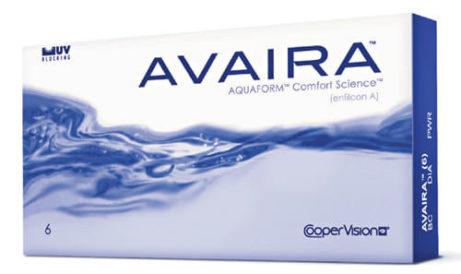 Balení kontaktních čoček Avaira od CooperVision